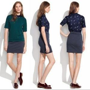 Madewell Ridgestripe Mini Skirt
